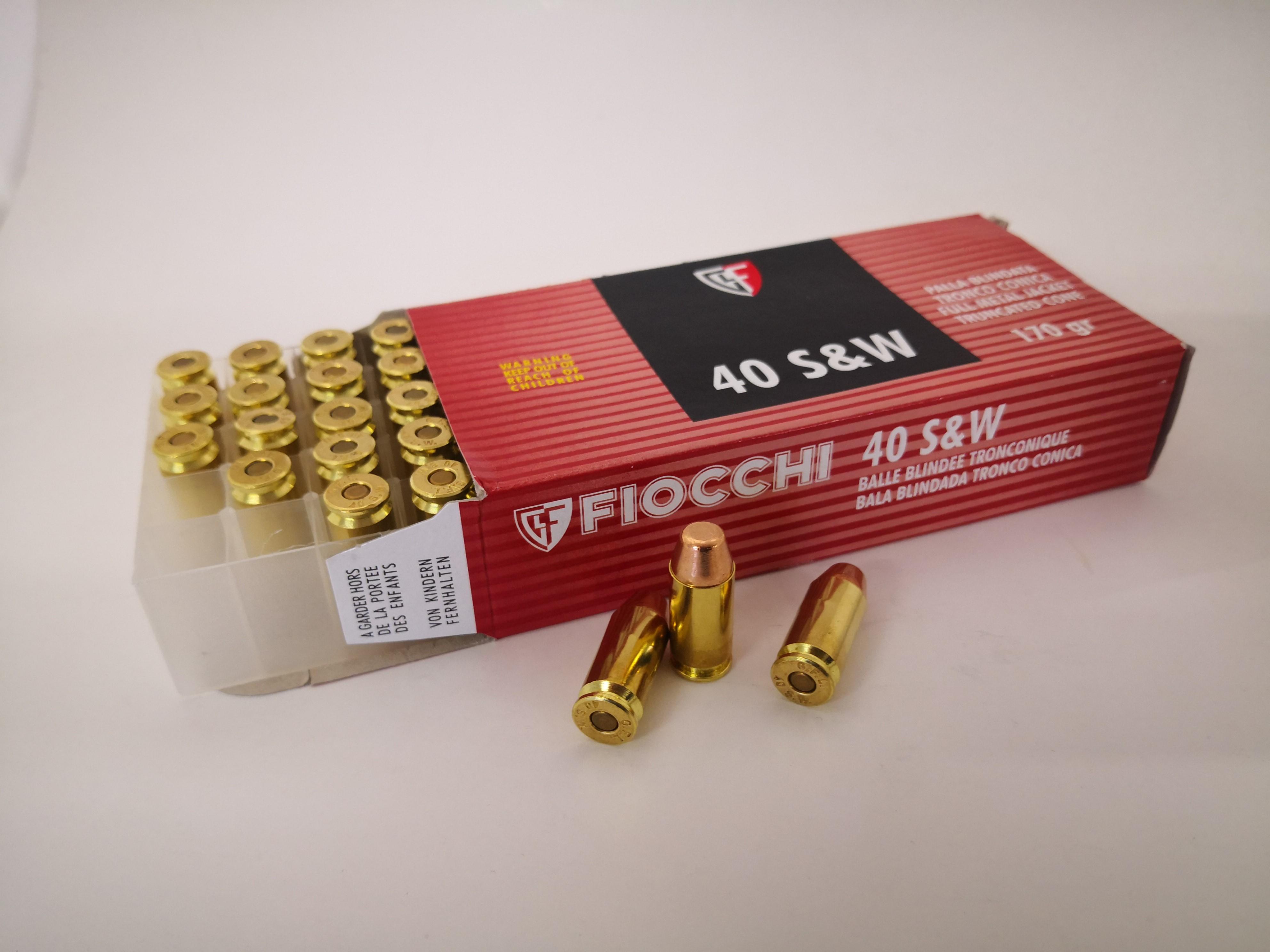 Fiocchi .40 S&W 11,02g patruuna 50kpl/rs