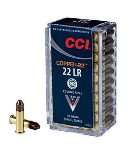 CCI 22. LR Copper 1,36 g lyijytön pienoiskiväärin patruuna 50 kpl /rs