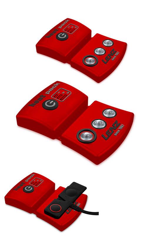 Lenz lithium pack akkupari 1200, väri punainen