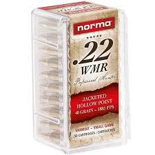 Norma .22 WMR JHP 2,6g 50kpl/rs