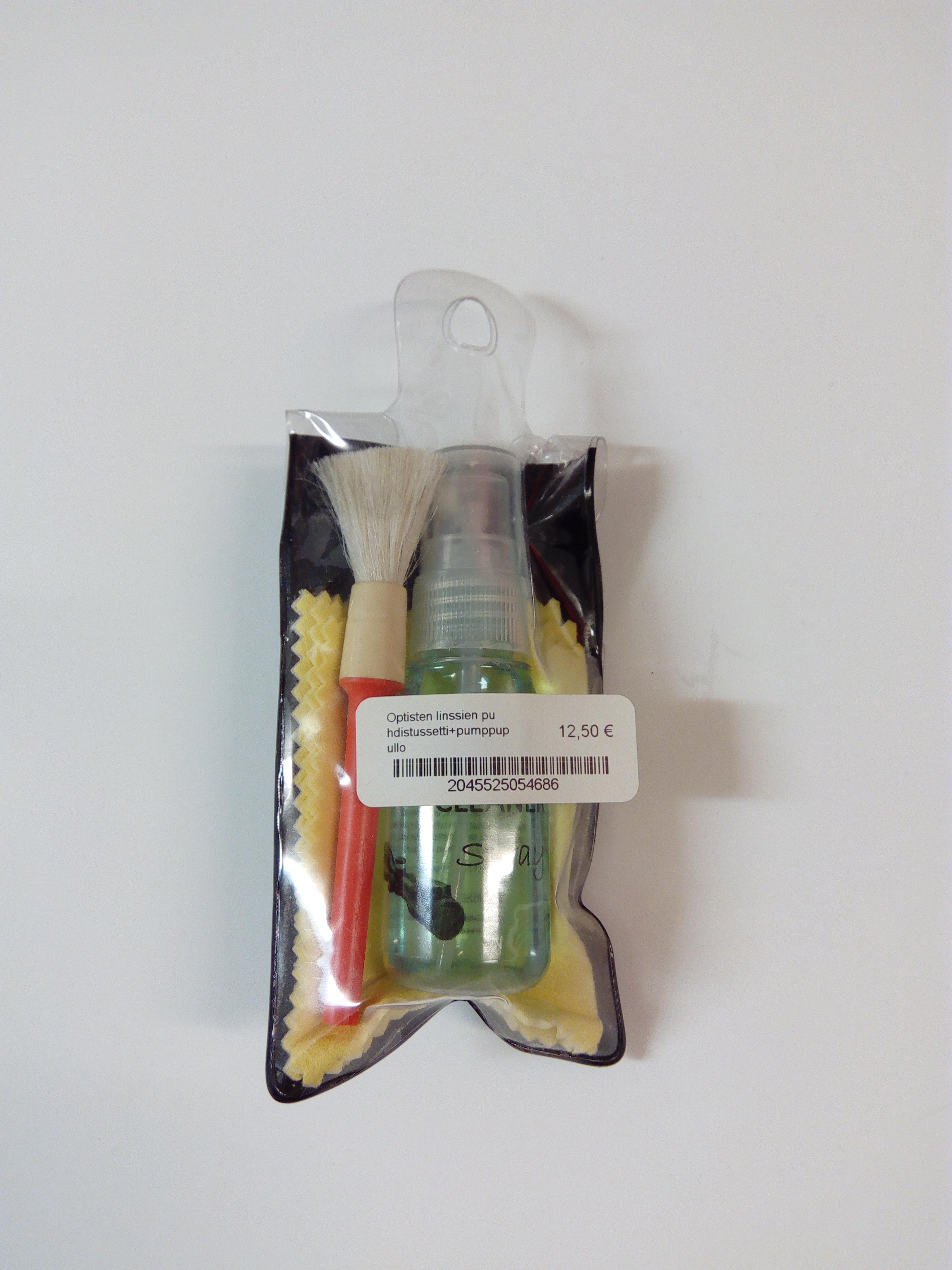 Optisten linssien puhdistussetti+pumppupullo