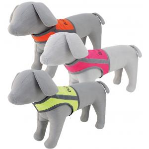 Booster Oranssi/heijastava  huomioliivi koiralle koko L