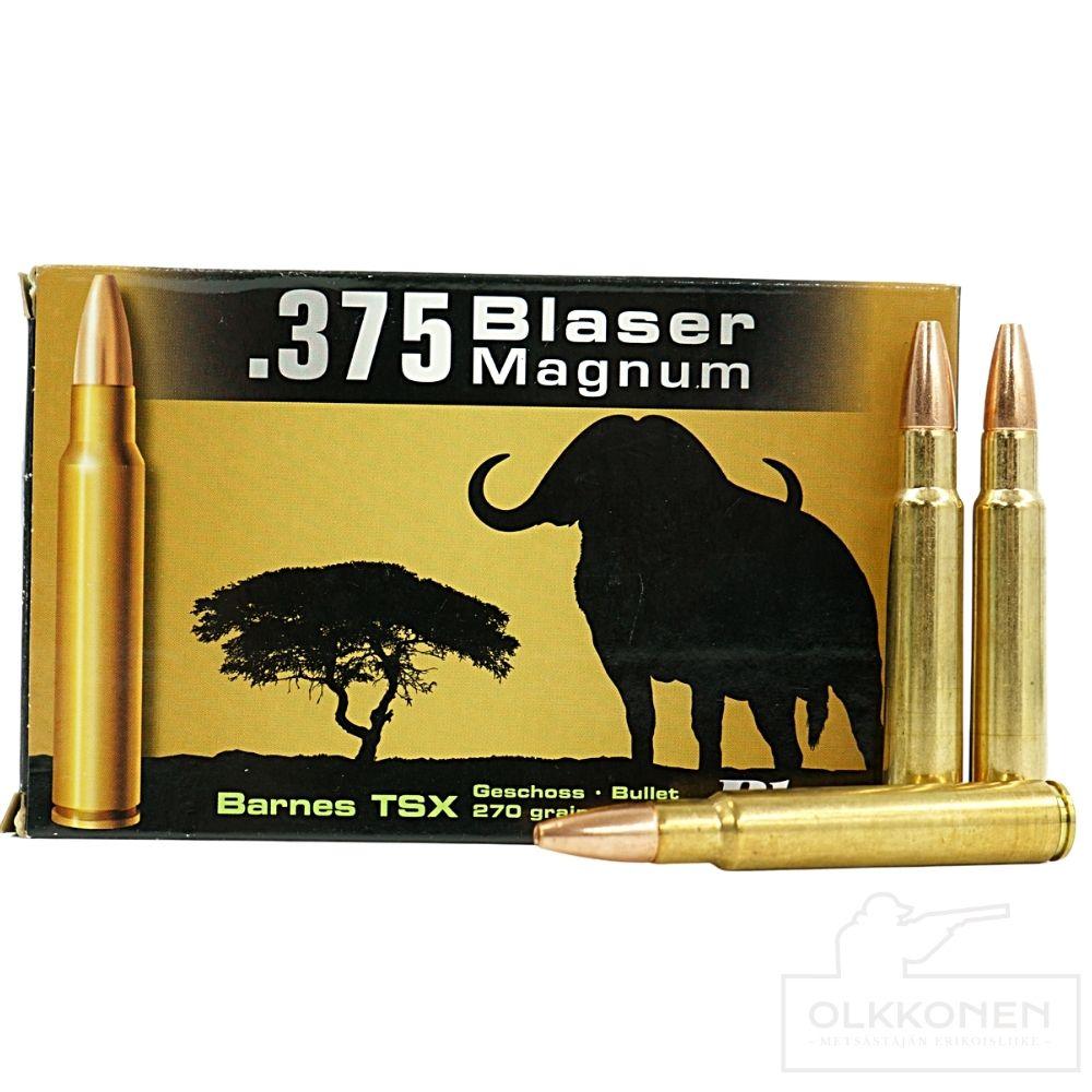 Blaser patruuna .375 Blaser magnum 17,5g Barnes TSX 20kpl/rs