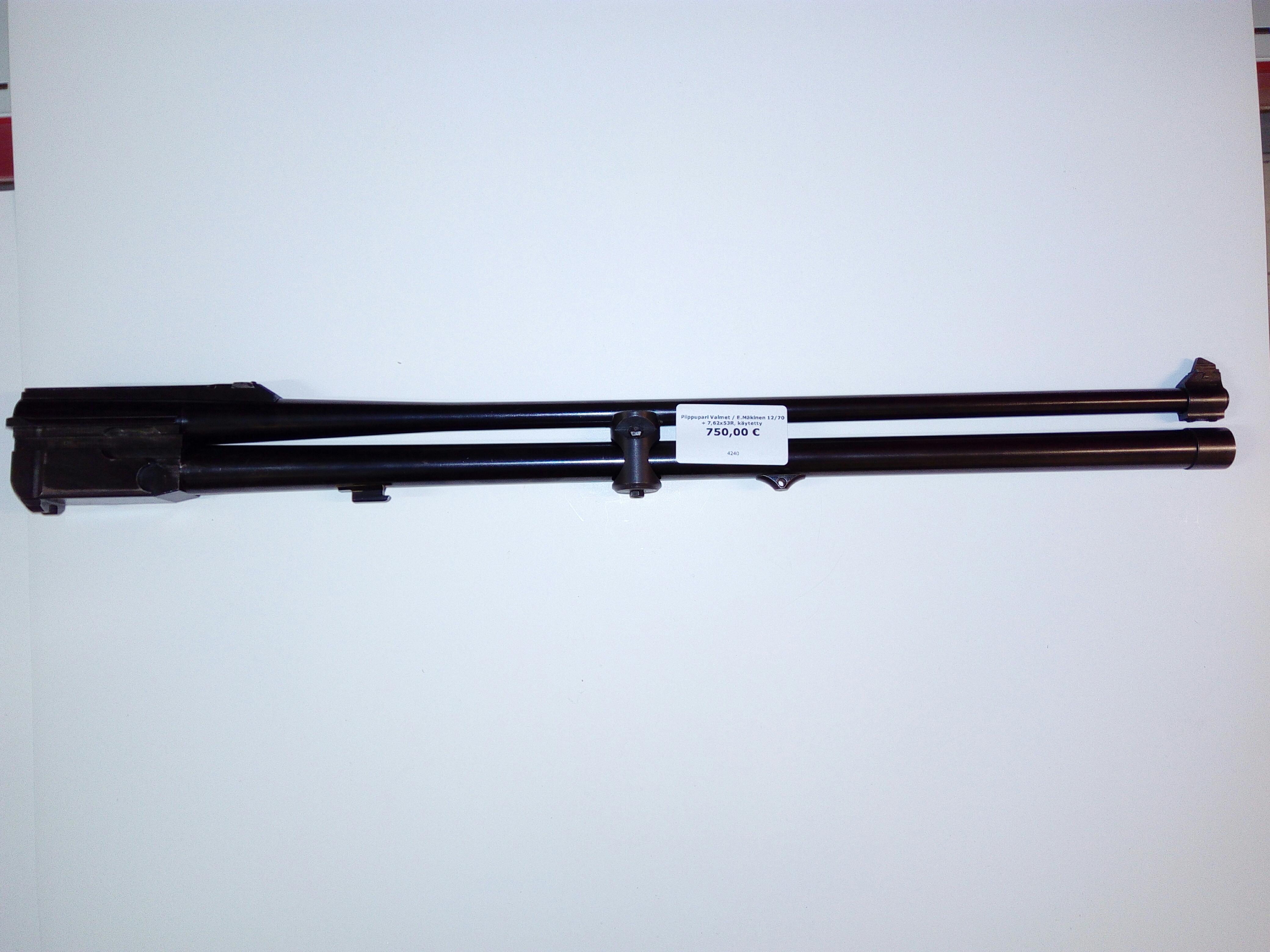 Piippupari Valmet  12/70 + 7,62x53R, käytetty