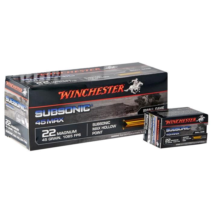 Winchester Subsonic .22 WMR 45gr HP