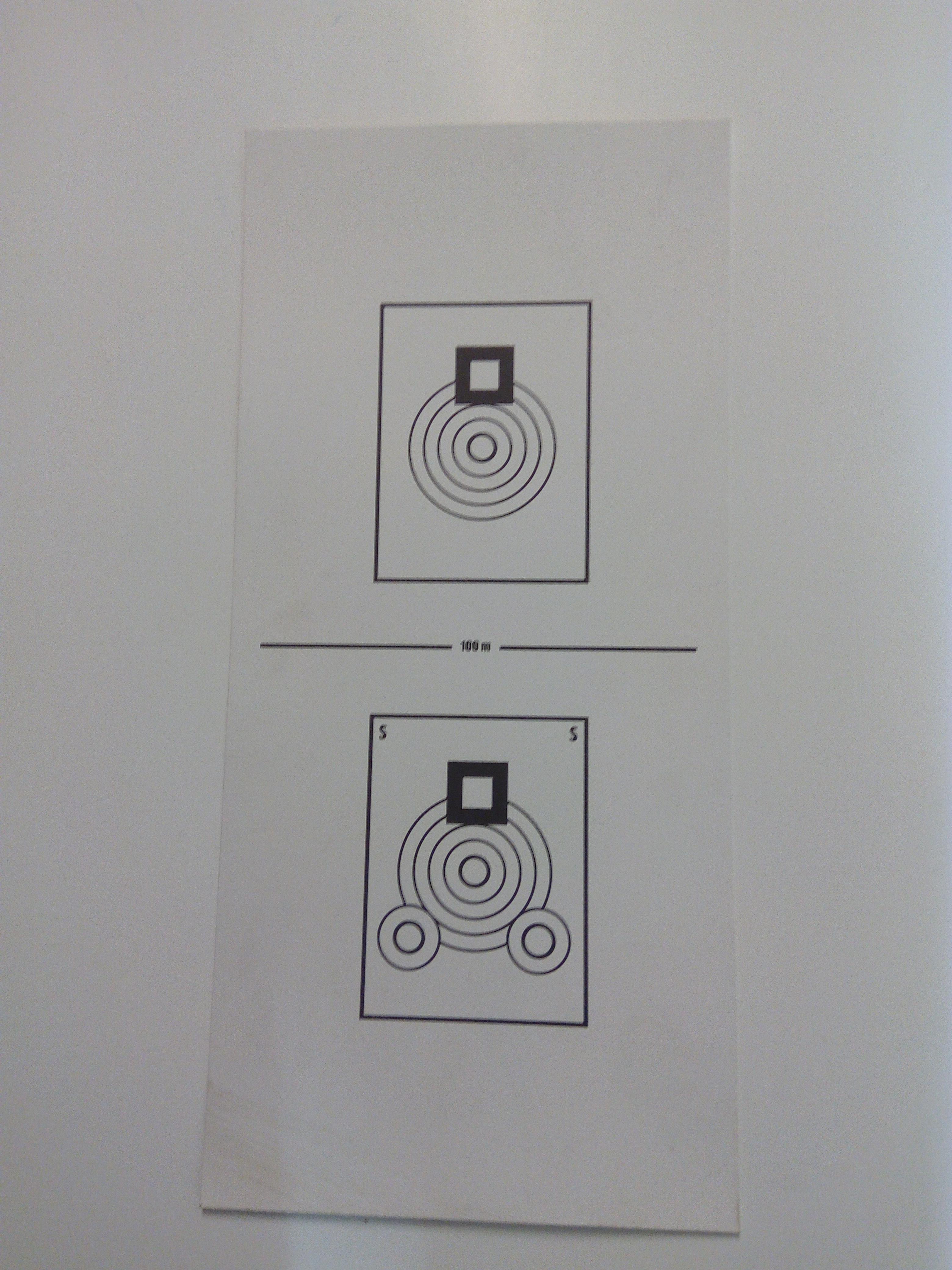 Kasa-ammuntataulu 100 m  1 kpl