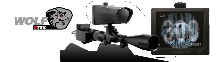 NiteSite Wolf RTEK nauhoittava digiyötähtäin 300m sis 4 Gb mini SDt