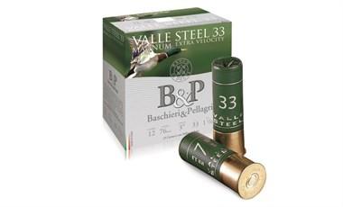 B&P Valle Steel 33g Mag 12/76 teräs 450m/s 25kpl/rasia
