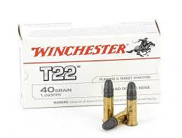 Winchester T-22 22LR 40gr LRN 331m/sek