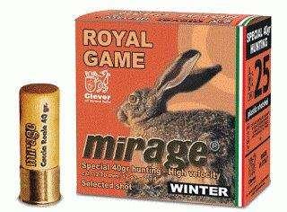 "Mirage T4 Royal Game ""Winter"" 12/70 40g lyijyhaulipatruuna 25kpl/rs nro 5"