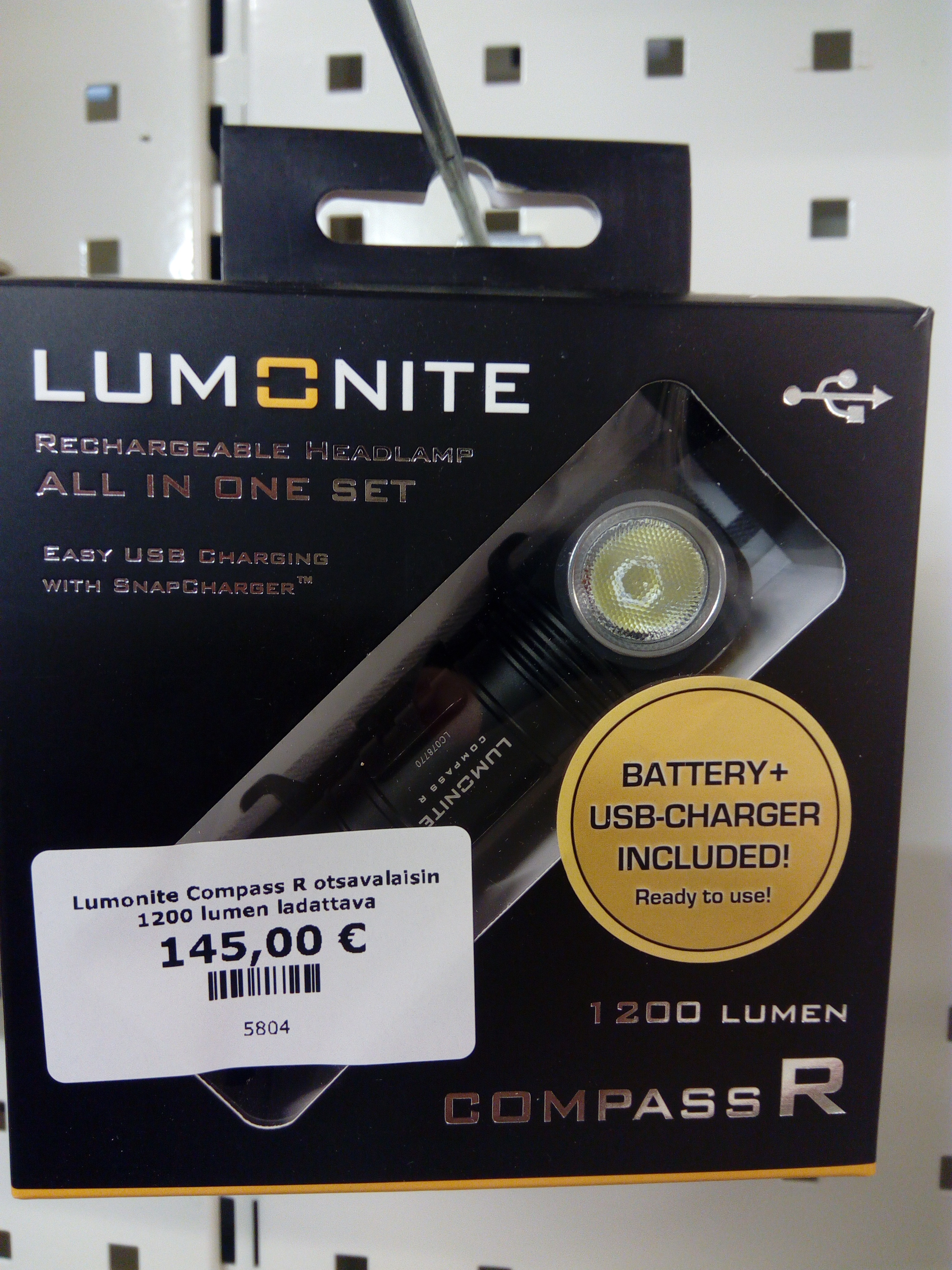 Lumonite Compass R otsavalaisin 1200 lumen ladattava