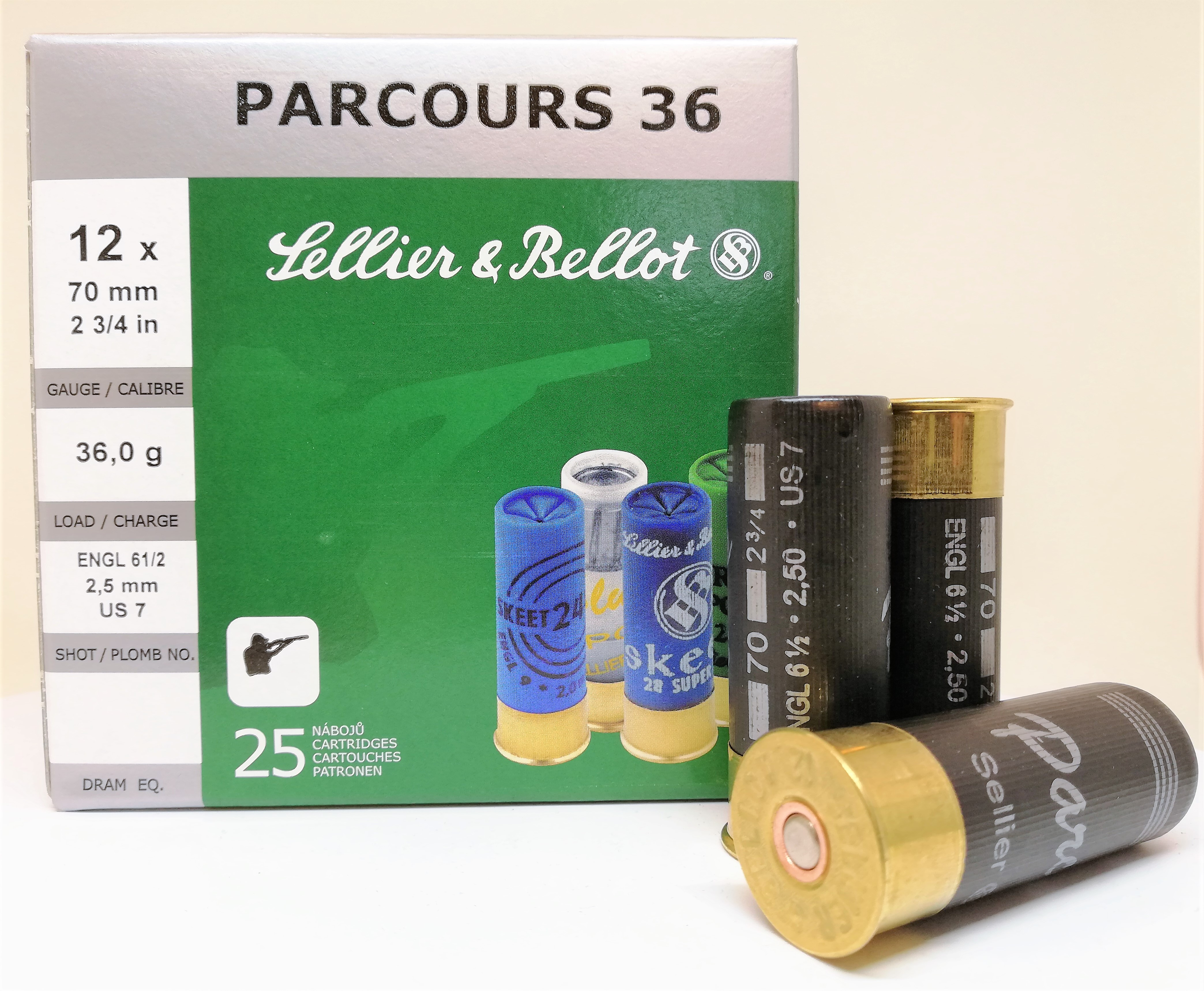Sellier & Bellot Parcours 12/70 36g 2,5mm 250kpl