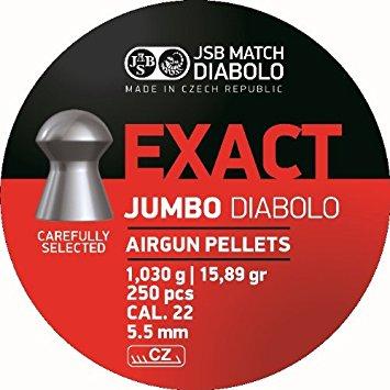 Ilmakiv. luoti JSB Exact Jumbo 5,5mm, 1,030g 250 kpl/rs