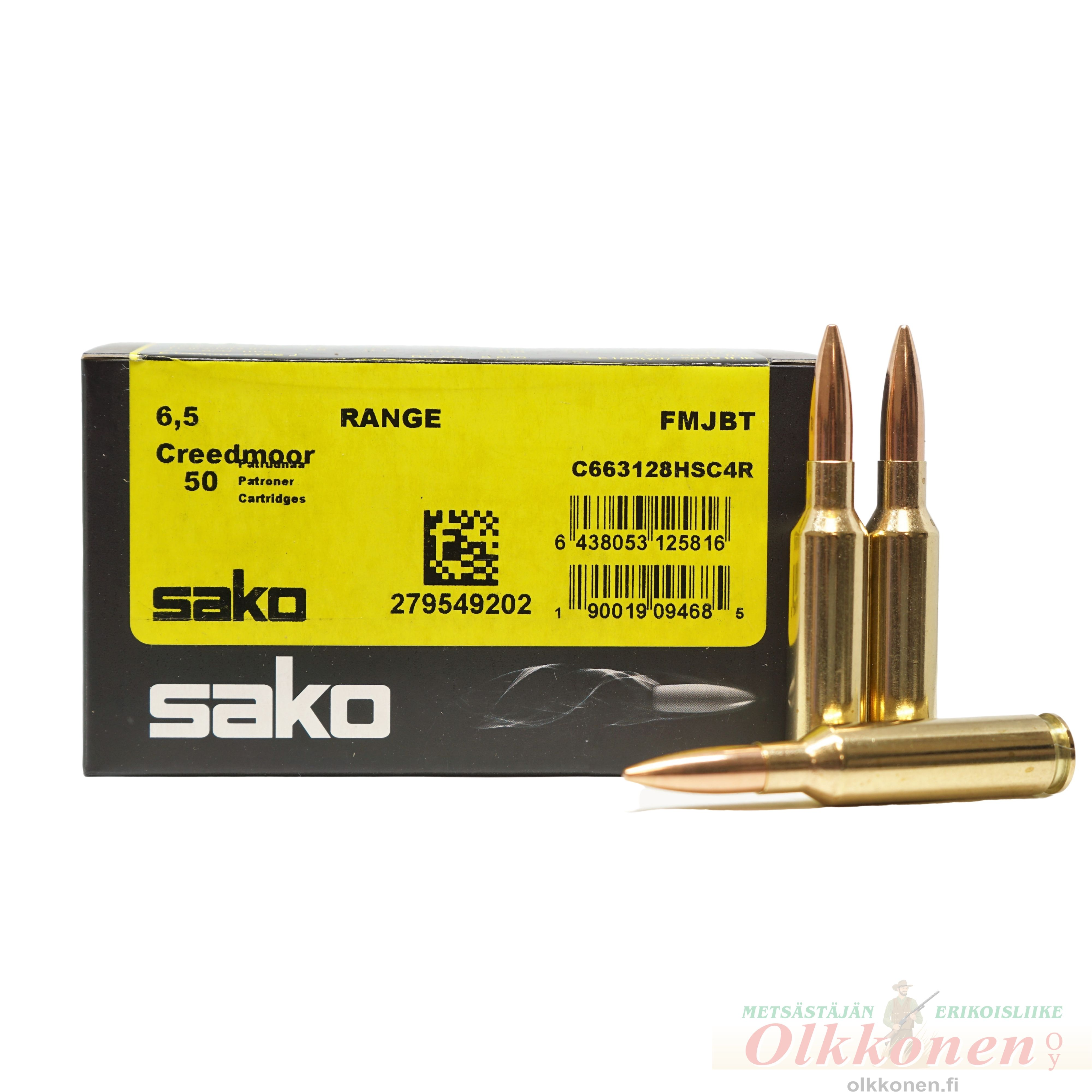 Sako Range 6.5 Creedmoor FMJBT patr. 9,3g 50kpl/rs