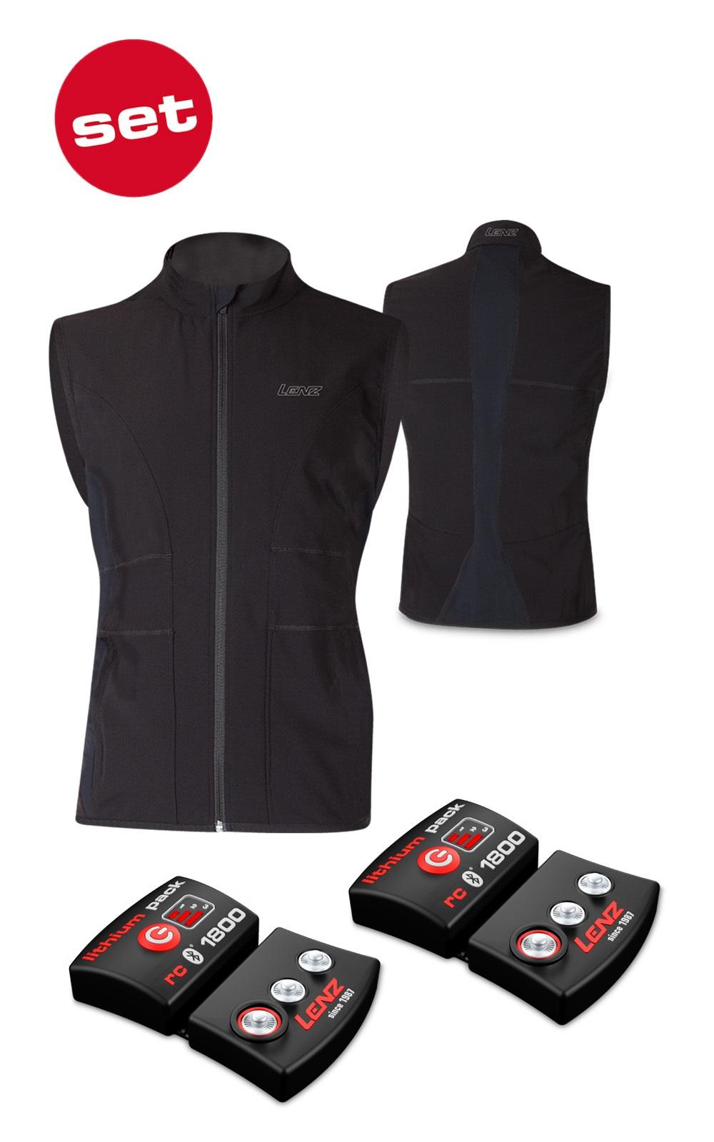 Lenz Heat Vest 1.0 miesten lämpöliivi + lithium pack rcB 1800