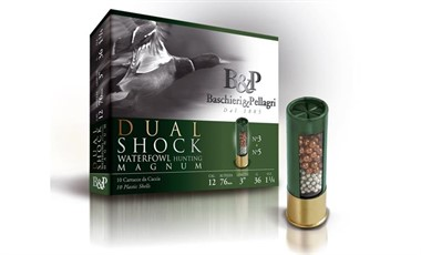 B&P Dual Shock Magnum 36 g 12/70  nro 5+3  2,9mm/3,3mm