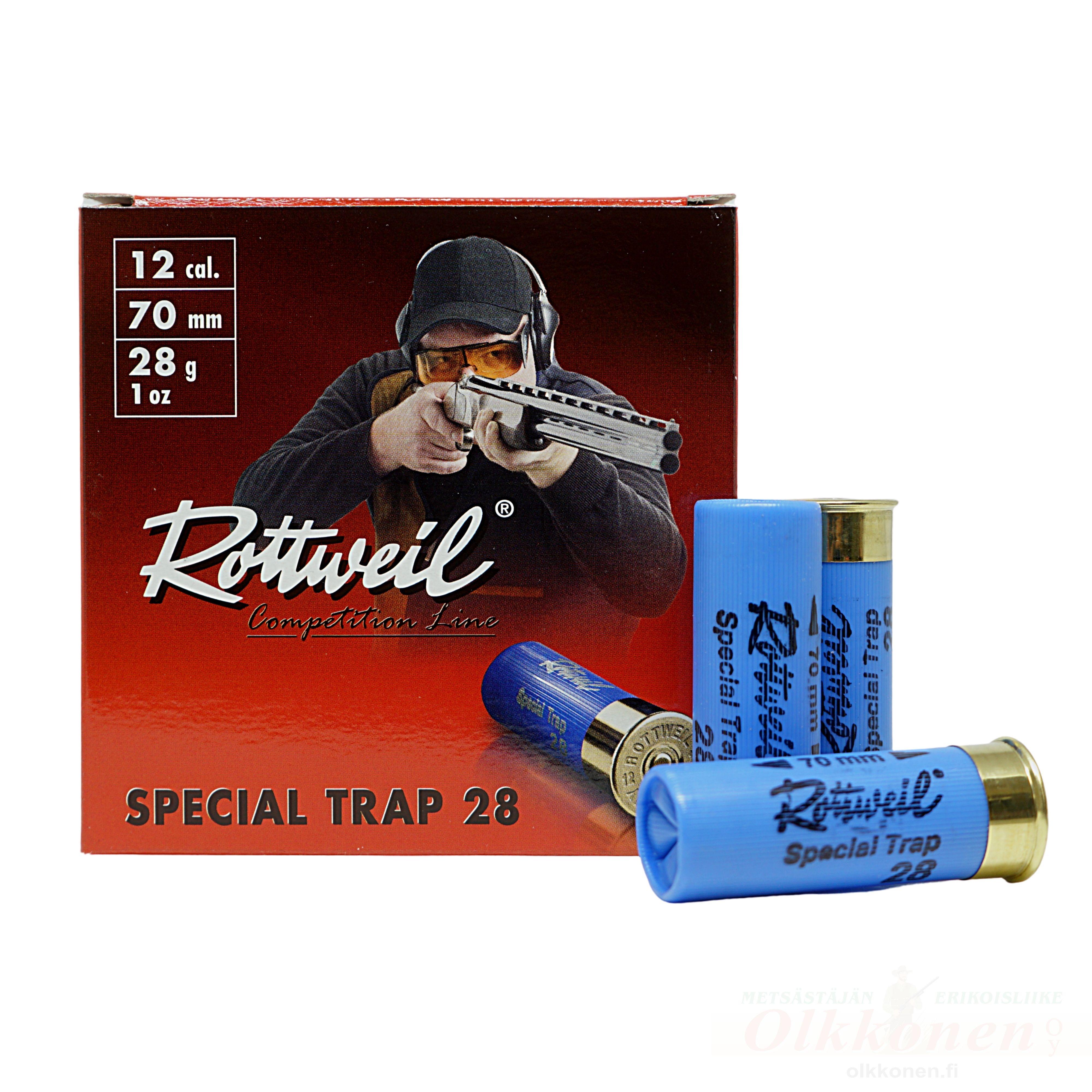 Rottweil Special Trap haulikonpatruuna 12/70 28g 2,4 mm