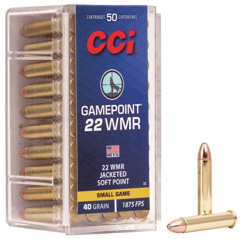 CCI .22 WMR Gamepoint JSP 2,6g 50kpl/rs