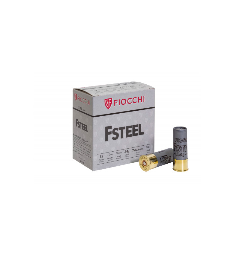 Fiocchi F Steel 12/70 24g haulikoko  7,5 25kpl/pak