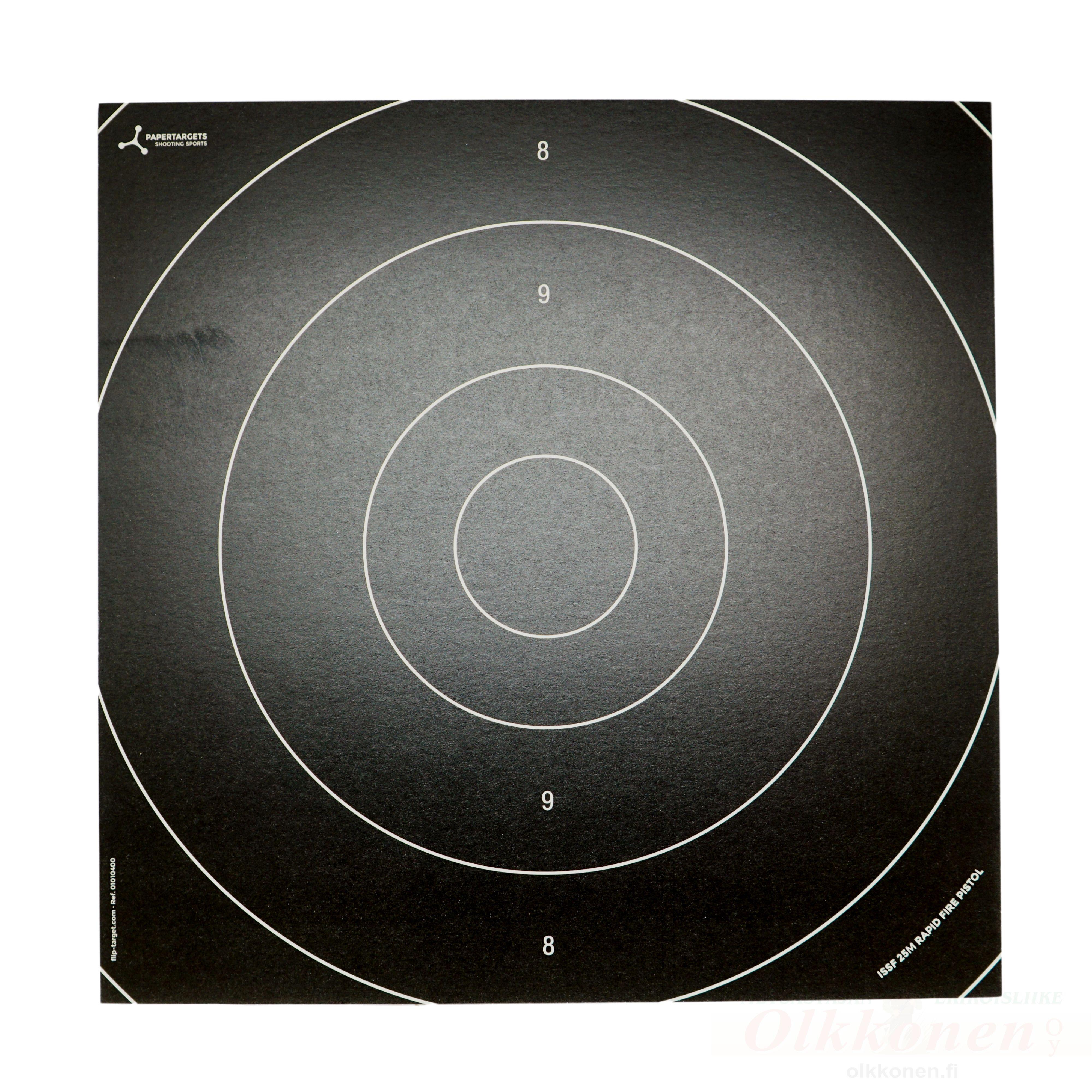 Flip target virallinen 25m 25x25 cm koulutaulu 100kpl