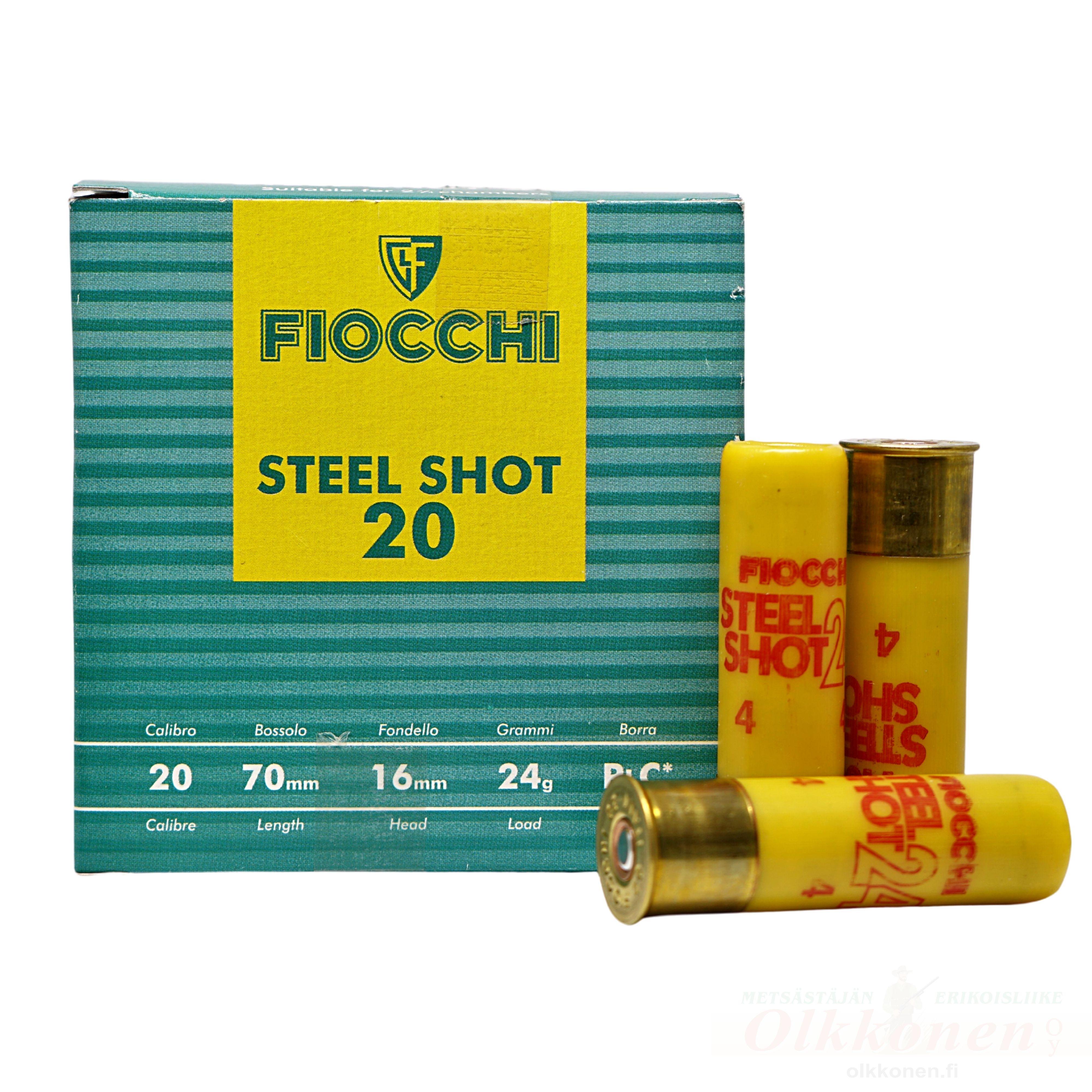 Fiocchi Steel Shot 20 20/70 24g haulikoko 4 25kpl/rs