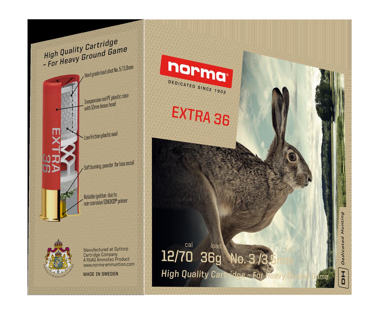Norma Extra 36 12/70 36g patruuna