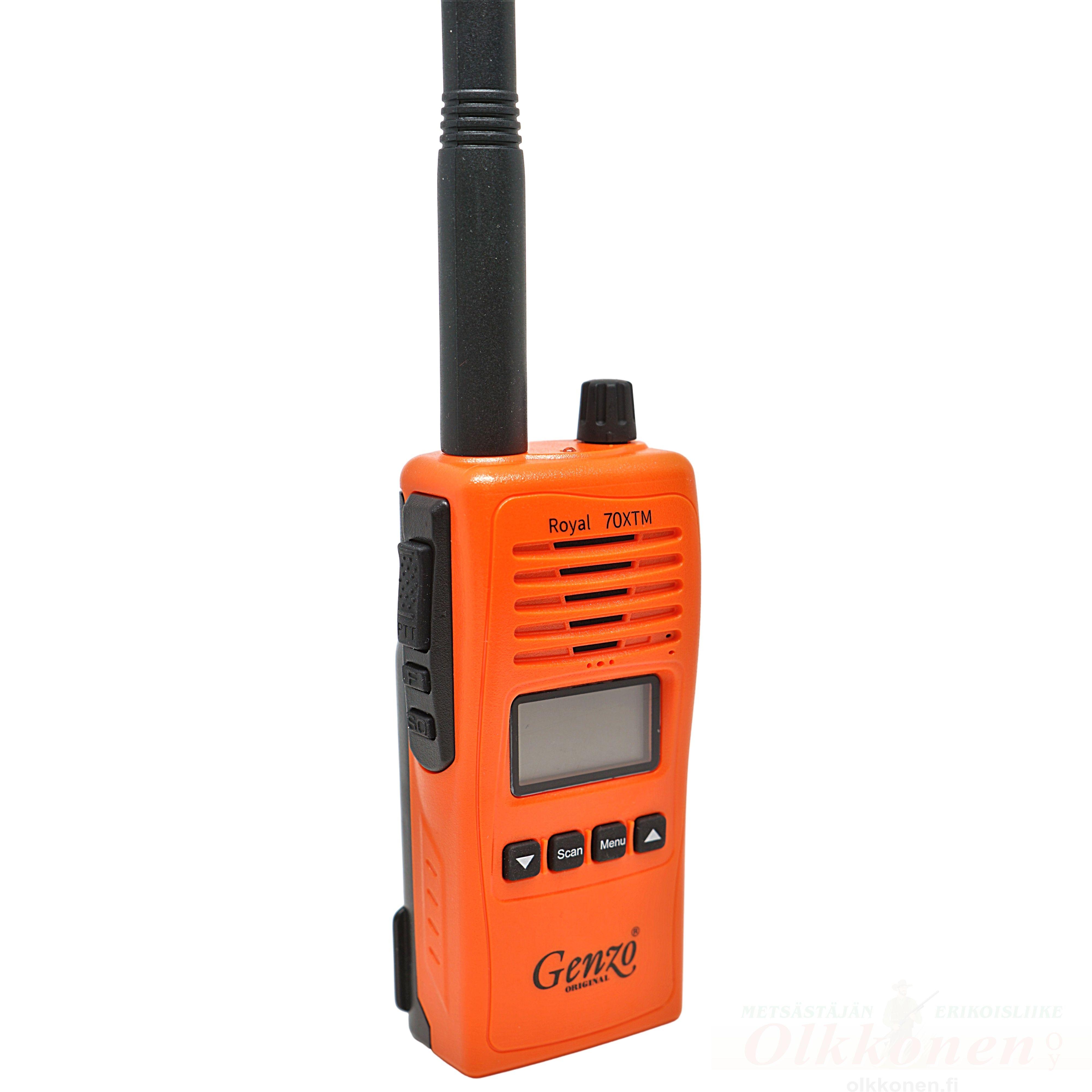 Genzo Royal 70 XTM VHF-puhelin metsästyskäyttöön + pitkä antenni