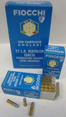 Fiocchi .22 lr Biathlon Exacta Fisi SM 340 50kpl/rs