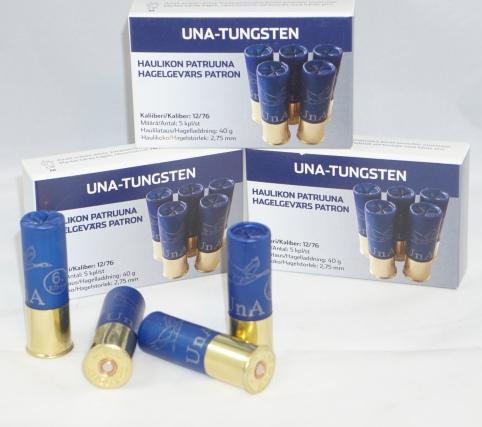 UnA-Tungsten patruuna 12/76 40g haulikoko 2,75mm 5kpl/rs