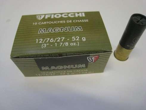 Fiocchi Magnum 12/76 52g nro 0 3,9mm