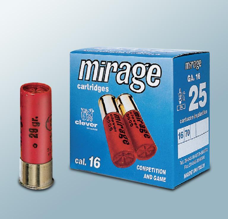 Mirage 16/70 T3 Hunting patruuna 29g haulilataus nro 4 3,1mm 25kpl/rs