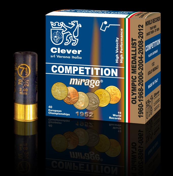 Mirage Competition 12/70 T2 Trap 2,4mm 28g 25kpl/rs