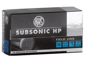RWS Subsonic .22 lr 2,6g 50kpl/rs 315m/sek