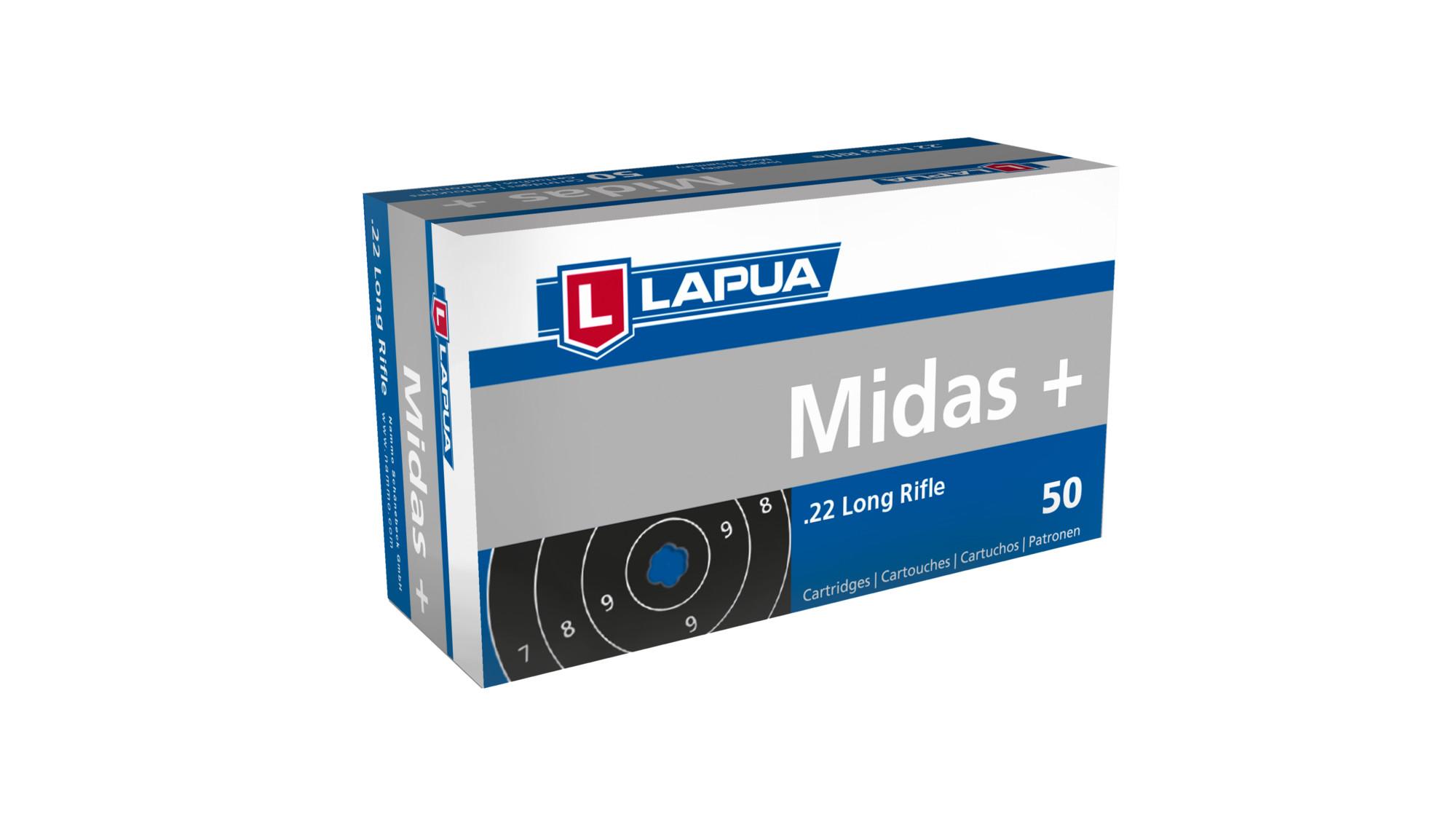 Lapua Midas+ .22 lr patruuna  50kpl /rasia