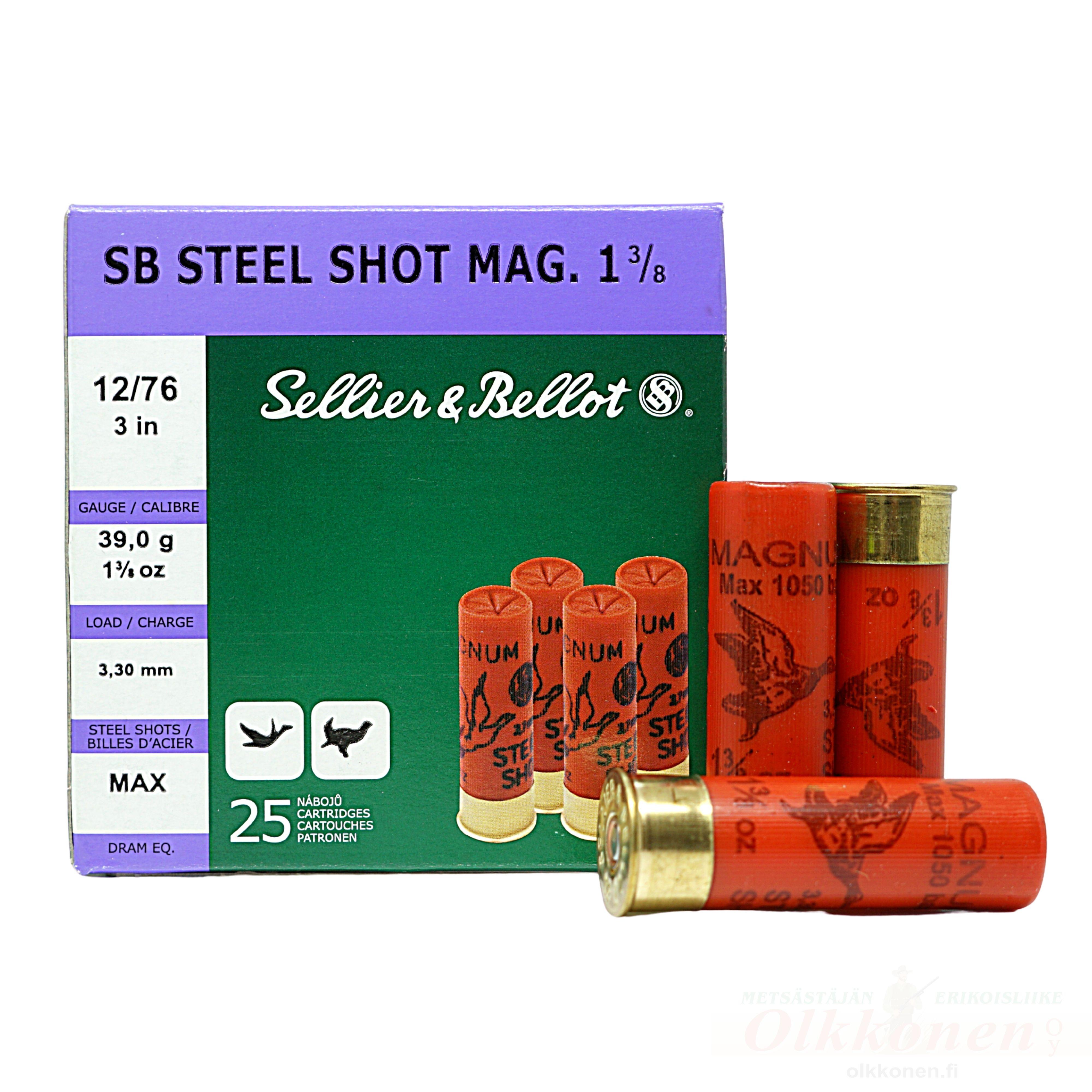 Sellier & Bellot 12/76 Steel Magnum 39,0g 3,3mm