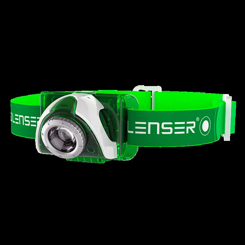 Led Lenser Seo 3 Otsavalaisin  vihreä