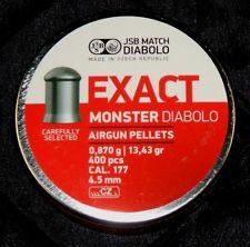 JSB Exact Monster 4,52mm, 0,870g ilmakiv. luoti 400 kpl/rs