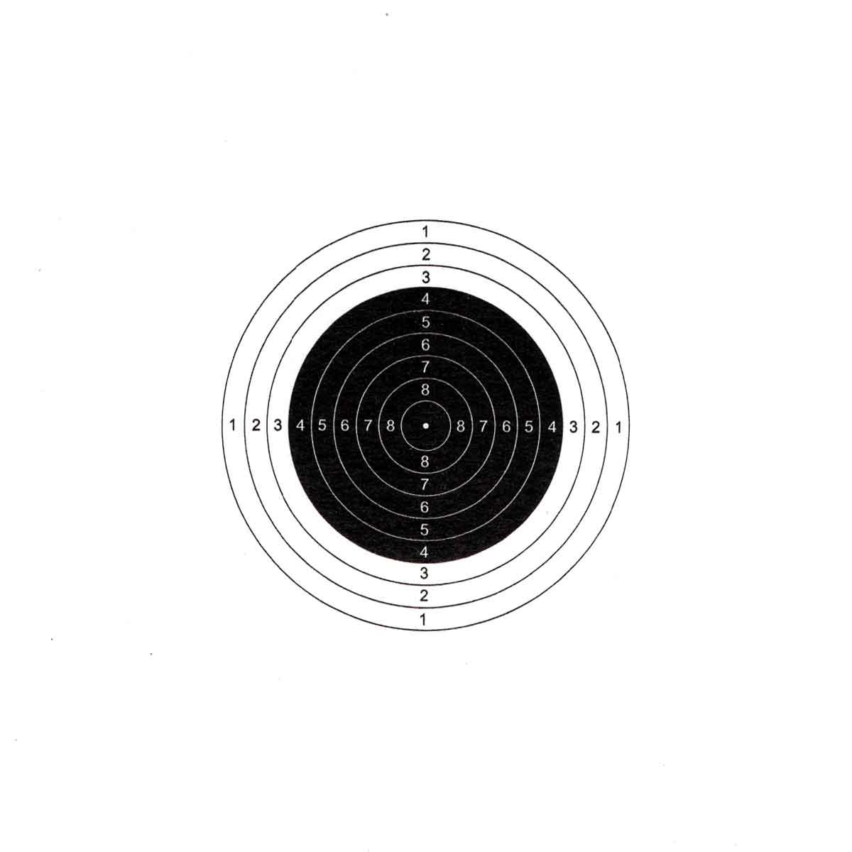Ilmakivääritaulu 1 täplä 10m 14 x 14 cm 50kpl Flip-Target