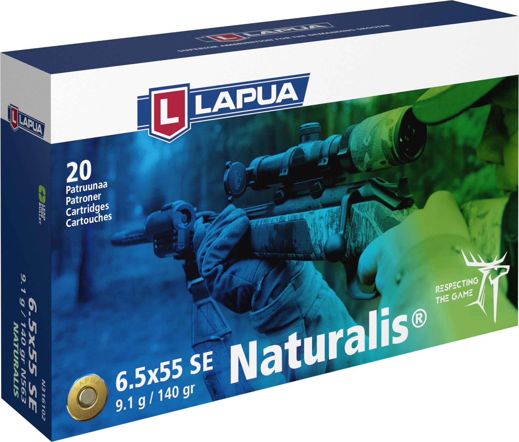 Lapua 6,5x55 SE patruuna Naturalis 9,1g N563 20kpl/rs