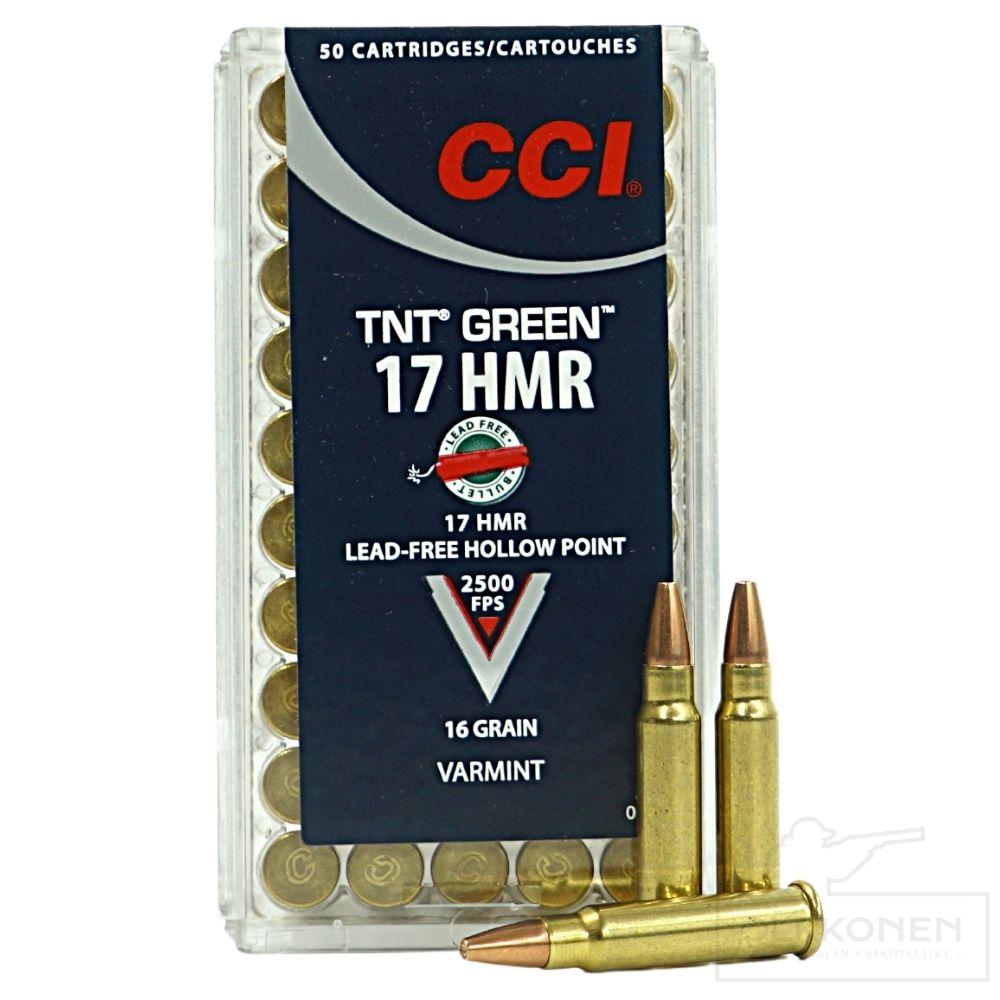 CCI Green .17 HMR HP TNT  patruuna 16gr 50 kpl / rs