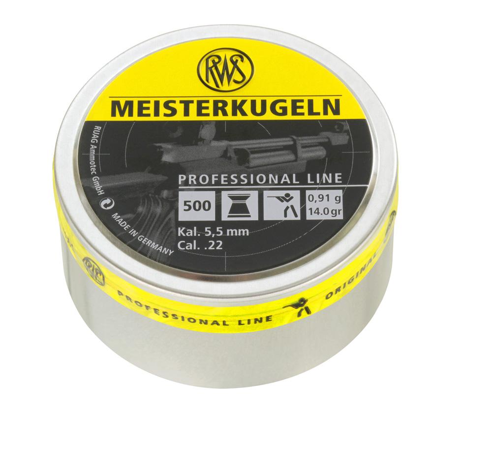 RWS Meisterkugeln IK luoti 5,5mm tasak. 0,91g  500kpl/rs