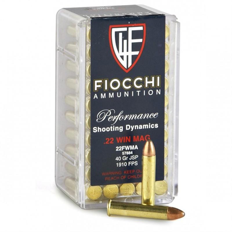 Fiocchi .22 Wmr 2,6g JSP    50kpl/rs