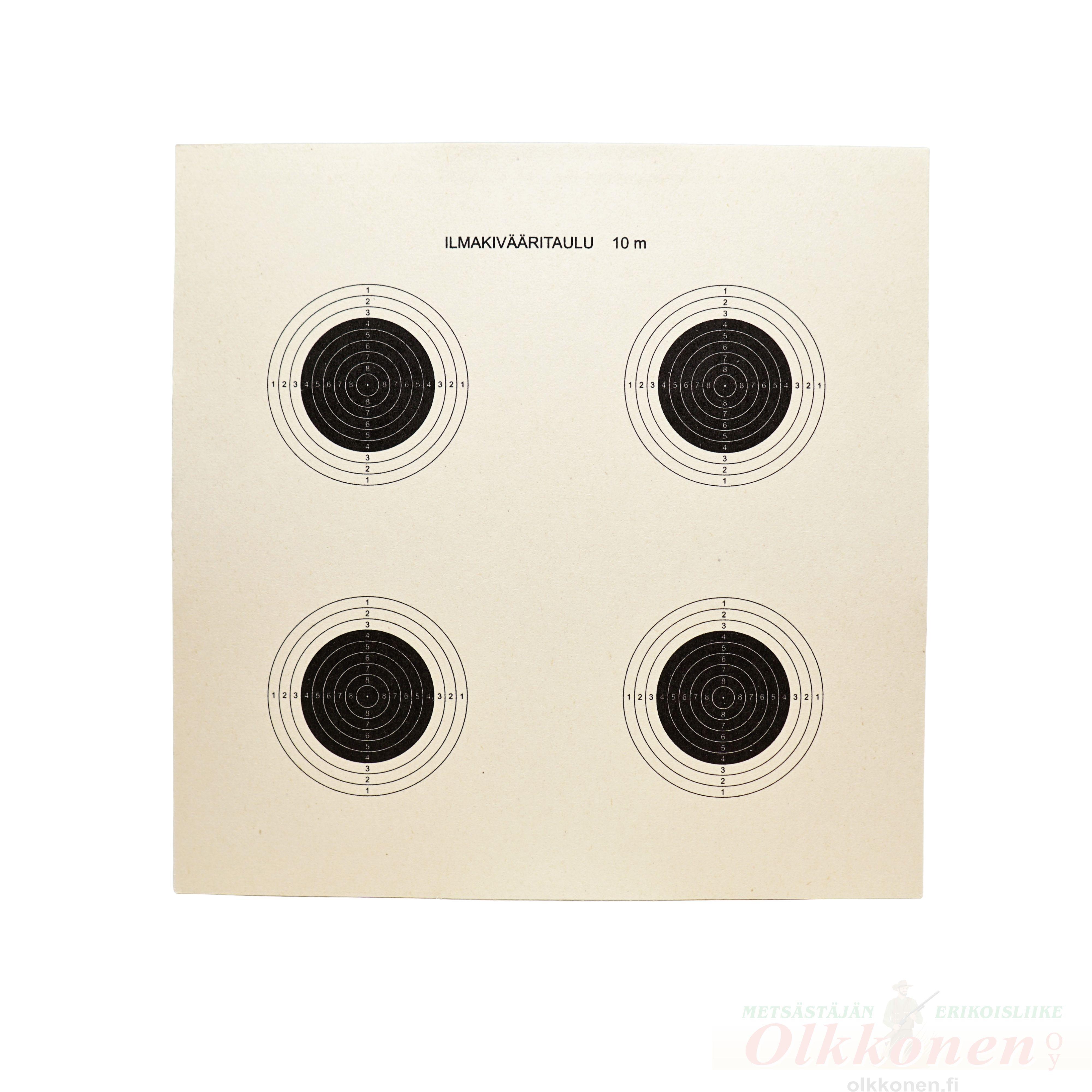 Ilmakivääritaulu 4 täplä 17x17 cm / 50 kpl pakk