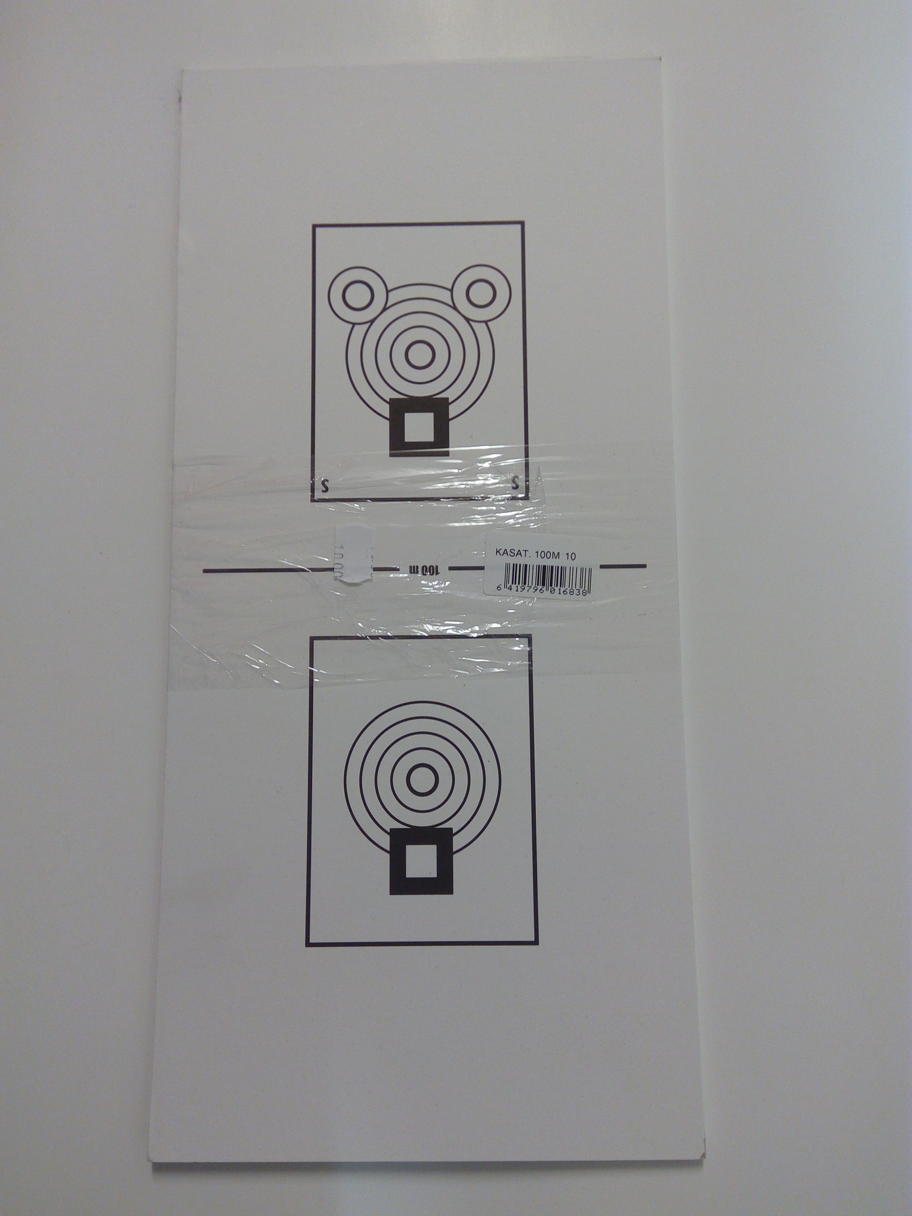 Kasa-ammuntataulu 100 m  10 kpl nippu