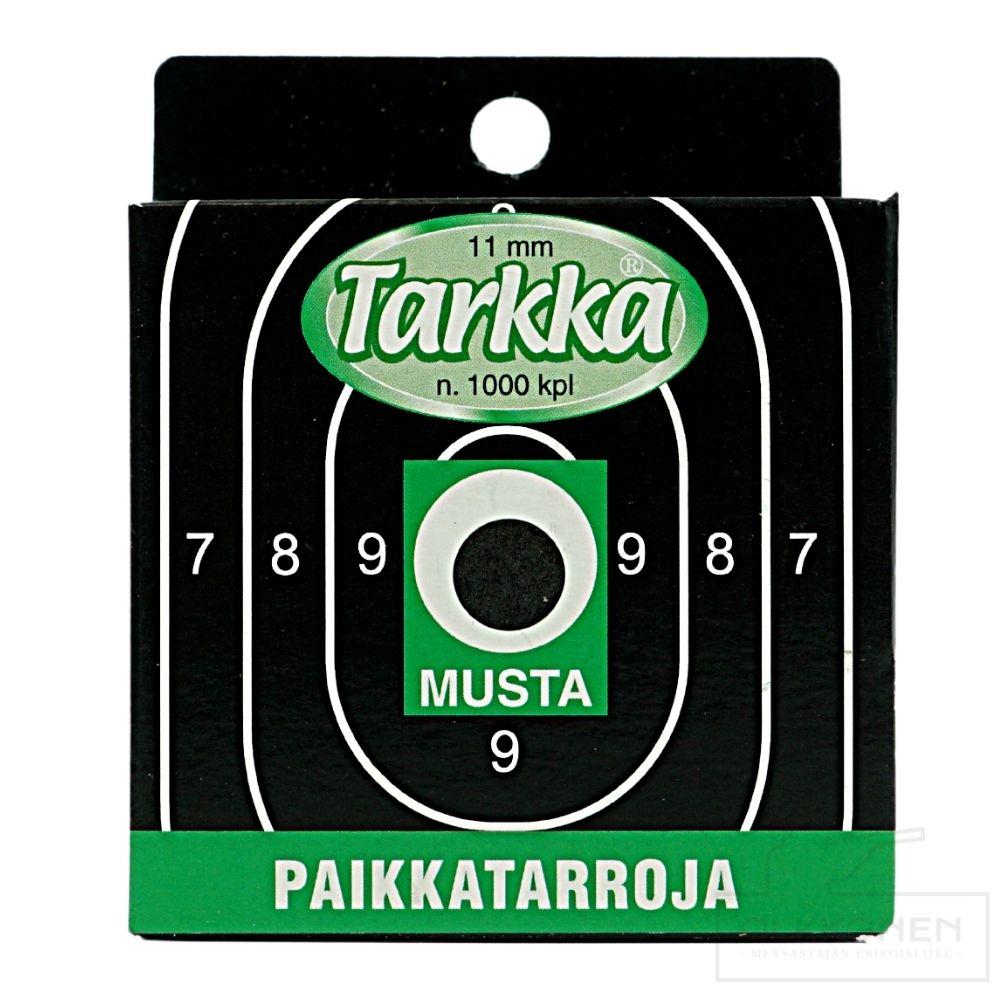 Paikkatarra Tarkka 11 mm musta pyöreä 1000kpl/rs